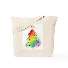 Rainbow Holiday Tree Tote Bag