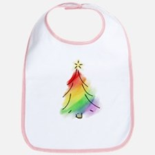 Rainbow Holiday Tree Bib