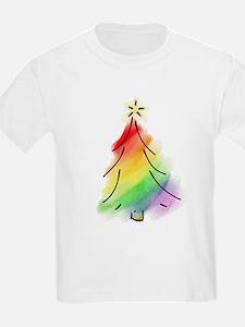 Rainbow Holiday Tree T-Shirt