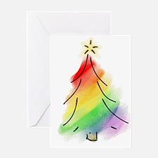 Rainbow Holiday Tree Greeting Card