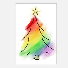 Rainbow Holiday Tree Postcards (Package of 8)