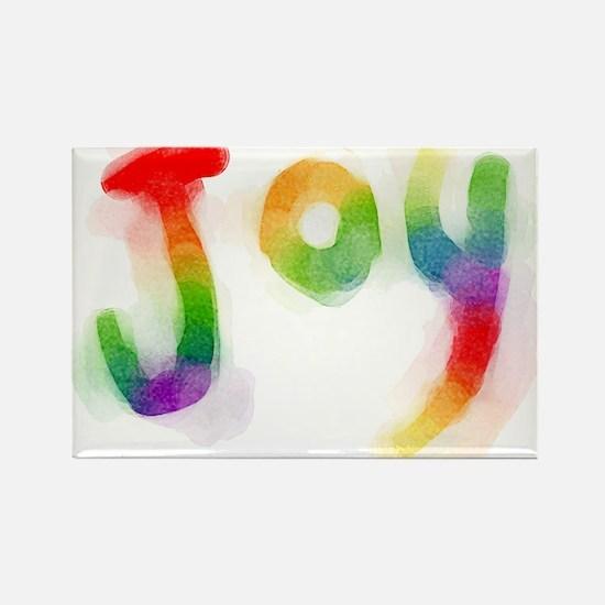 Rainbow Joy Rectangle Magnet
