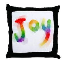 Rainbow Joy Throw Pillow