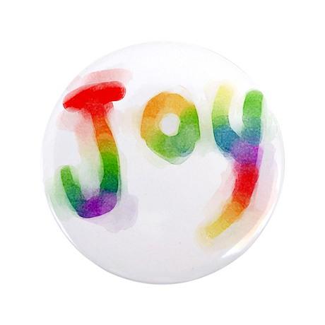 """Rainbow Joy 3.5"""" Button"""