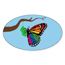 Rainbow Butterfly Emerging From Chrysalis Decal