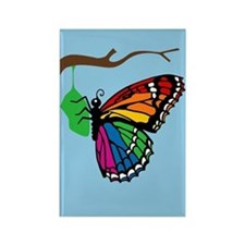 Rainbow Butterfly Emerging From Chrysalis Rectangl