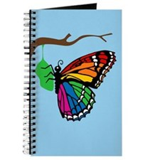 Rainbow Butterfly Emerging From Chrysalis Journal