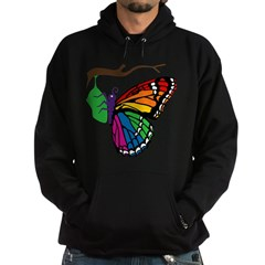 Rainbow Butterfly Emerging From Chrysalis Hoodie