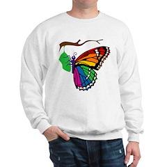 Rainbow Butterfly Emerging From Chrysalis Sweatshi