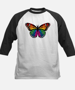 Rainbow Butterfly Kids Baseball Jersey