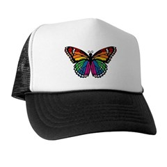 Rainbow Butterfly Trucker Hat