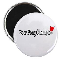 Beer Pong Champion Magnet