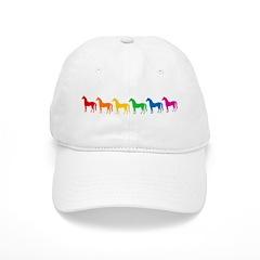Rainbow Colored Horses Baseball Cap