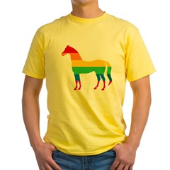 Rainbow Stripe Horse T