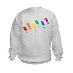 Rainbow Seahorses Sweatshirt