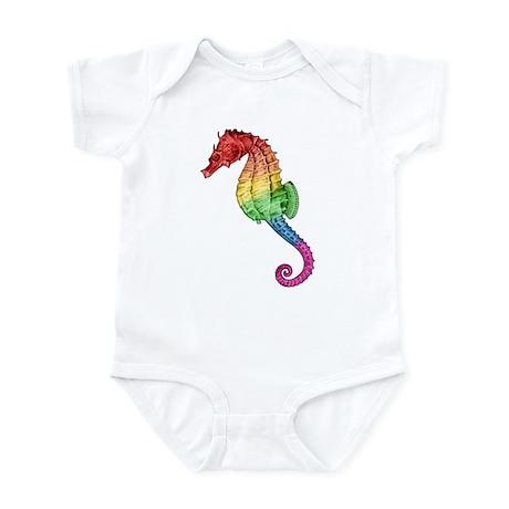 Rainbow Seahorse Infant Bodysuit