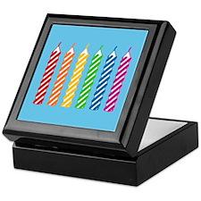 Rainbow Birthday Candles Keepsake Box