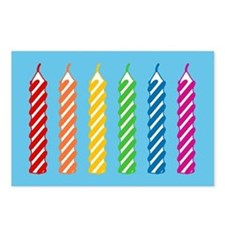 Rainbow Birthday Candles Postcards (Package of 8)