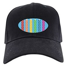 Rainbow Birthday Candles Baseball Hat