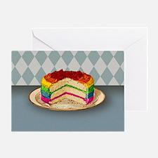 Rainbow Cake Greeting Card