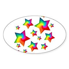 Rainbow Stars Decal