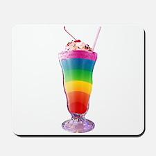 Rainbow Stripe Milkshake Mousepad