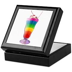 Rainbow Stripe Milkshake Keepsake Box