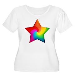 Swirly Rainbow Star T-Shirt