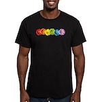 Rainbow Daisies Men's Fitted T-Shirt (dark)