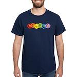 Rainbow Daisies Dark T-Shirt