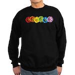 Rainbow Daisies Sweatshirt (dark)