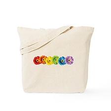 Rainbow Daisies Tote Bag