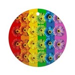 Rainbow Daisies Ornament (Round)