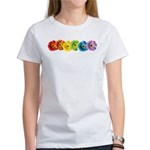 Rainbow Daisies Women's T-Shirt