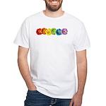 Rainbow Daisies White T-Shirt