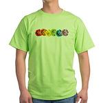 Rainbow Daisies Green T-Shirt