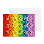 Rainbow Daisies Greeting Card