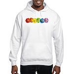Rainbow Daisies Hooded Sweatshirt