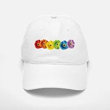Rainbow Daisies Baseball Baseball Cap