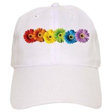 Rainbow Daisies Baseball Cap