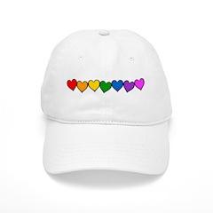 Rainbow Hearts Baseball Cap