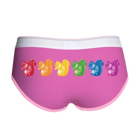 Rainbow Squirrels Women's Boy Brief