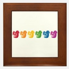 Rainbow Squirrels Framed Tile