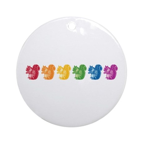 Rainbow Squirrels Ornament (Round)
