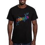 Rainbow Patio Chairs Men's Fitted T-Shirt (dark)
