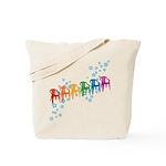 Rainbow Patio Chairs Tote Bag