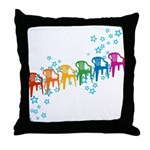 Rainbow Patio Chairs Throw Pillow