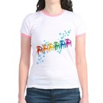 Rainbow Patio Chairs Jr. Ringer T-Shirt