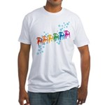 Rainbow Patio Chairs Fitted T-Shirt