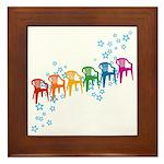 Rainbow Patio Chairs Framed Tile